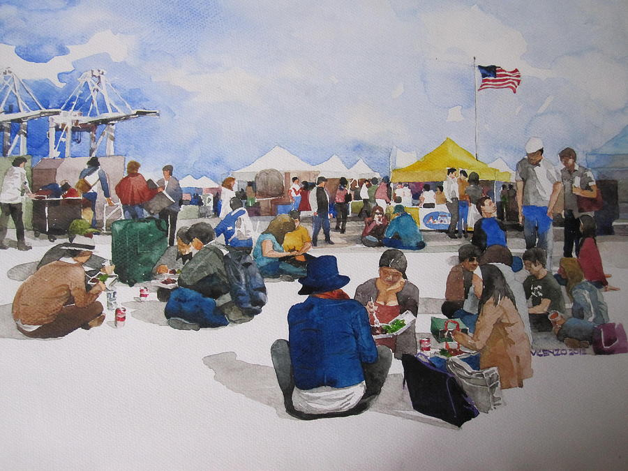 Antiques By The Bay Painting - Antiques By The Bay by V  Reyes