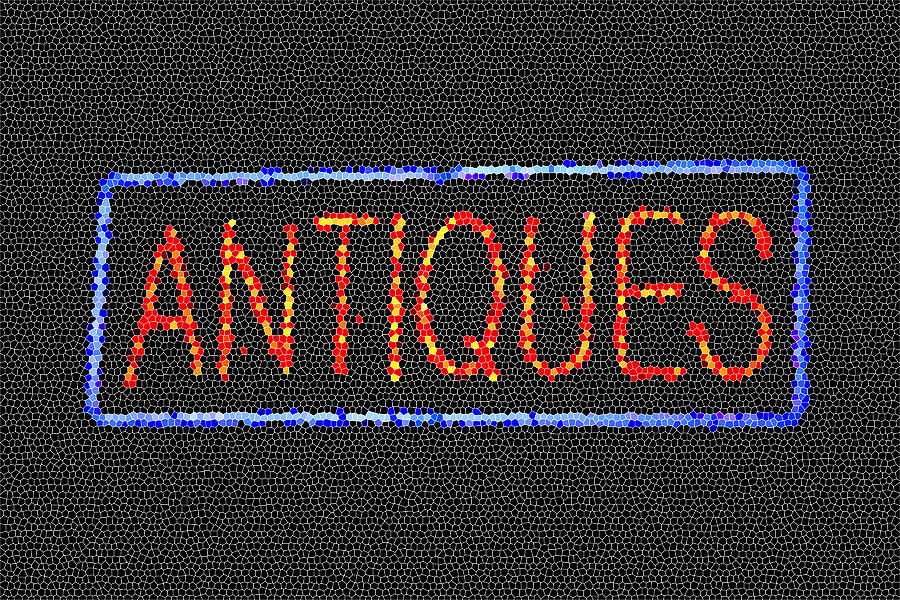 Antiques Digital Art - Antiques Mosiac by Melany Sarafis