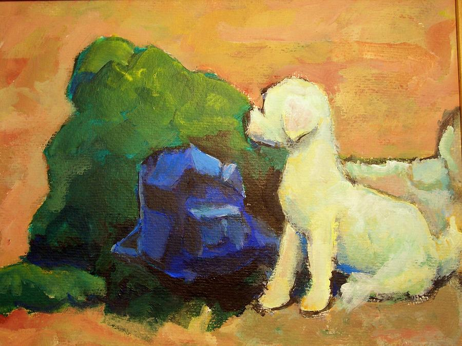 Aotret Painting - Aotret Dog by Alfons Niex