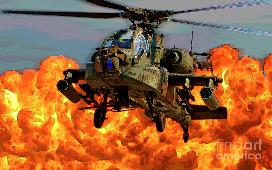apache helicopter photograph by herb paynter