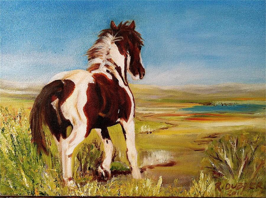 Wild Horses Painting - Apache by Rachel Dubber
