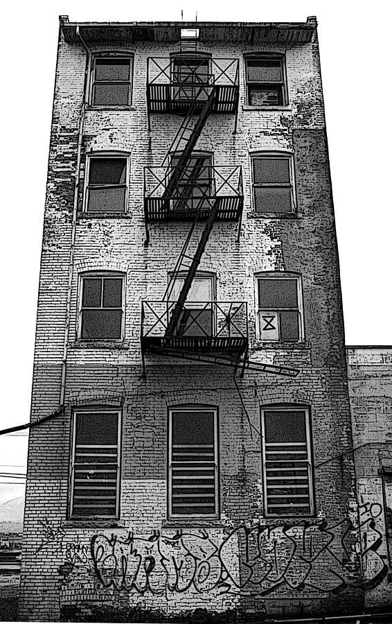 Inner City Photograph - Apartment Building by David Vockeroth