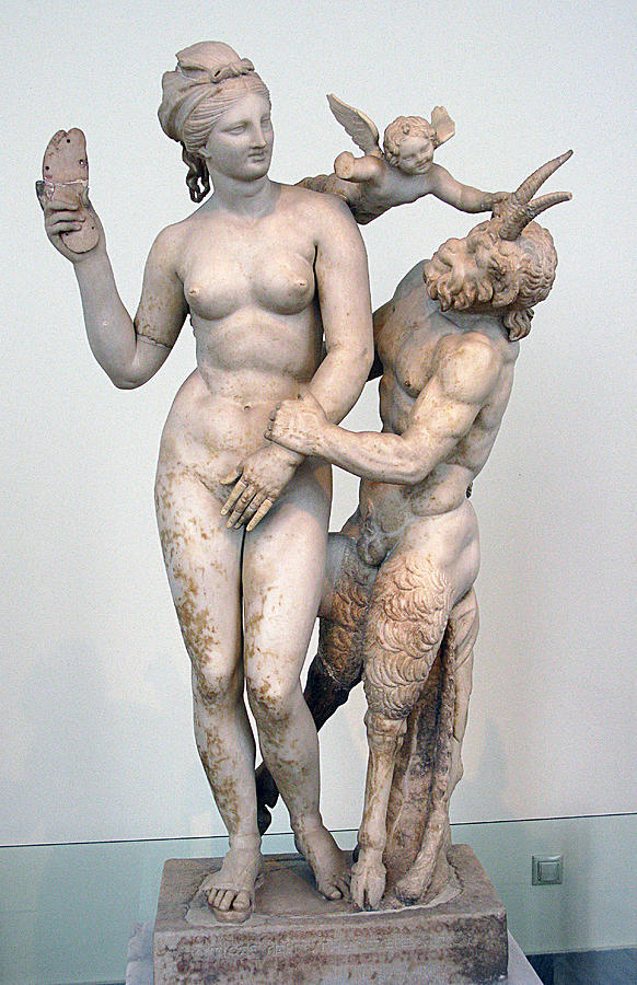 Aphrodite Photograph - Aphrodite Pan And Eros by Andonis Katanos