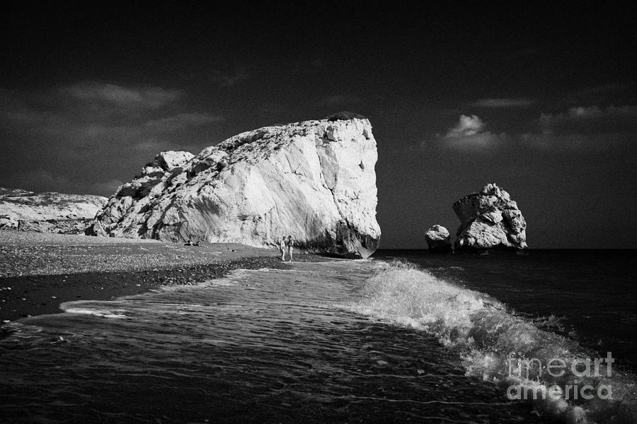 Aphrodites Photograph - Aphrodites Rock Petra Tou Romiou Republic Of Cyprus Europe by Joe Fox