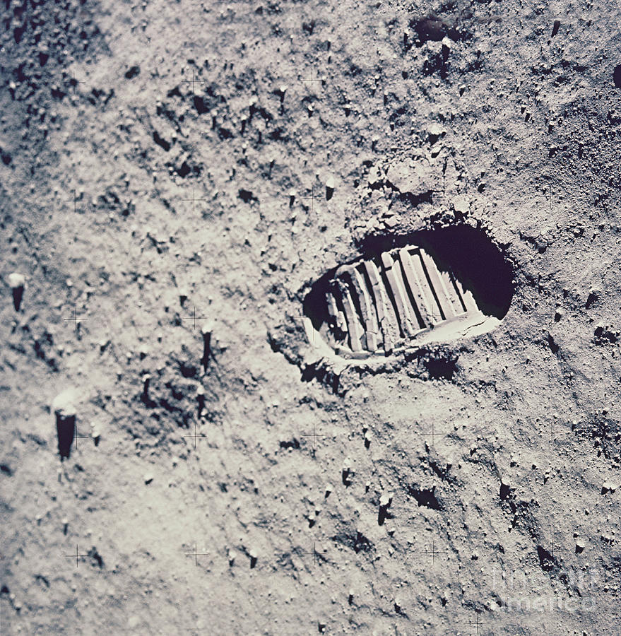 Apollo 11 Footprint Photograph By Nasa