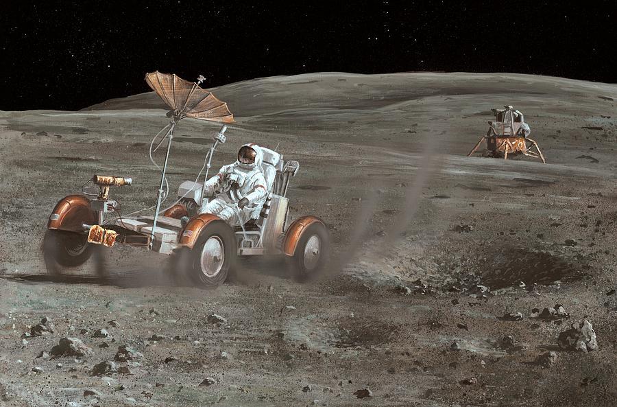 Apollo 16 Lunar Rover, Artwork Photograph by Richard Bizley