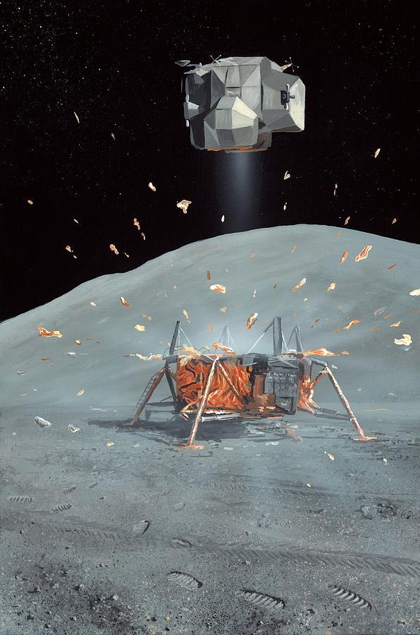 Apollo 17 Photograph - Apollo 17 Ascent Stage, Artwork by Richard Bizley