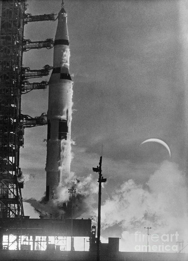 Apollo 8: Launch, 1968 Photograph by Granger