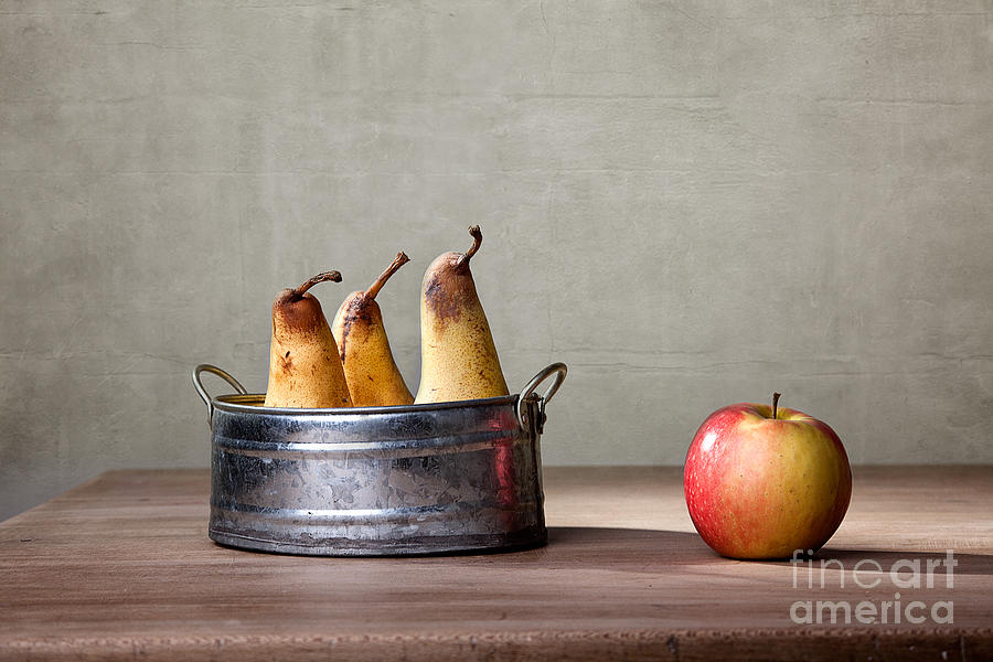 Pear Photograph - Apple and Pears 01 by Nailia Schwarz