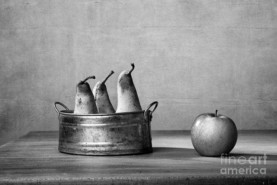Pear Photograph - Apple and Pears 02 by Nailia Schwarz