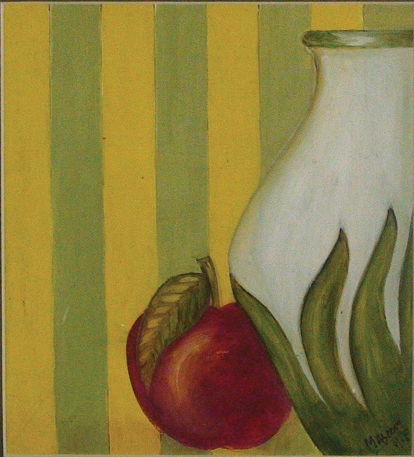 Still Life Painting - Apple And Vase by Masoom Sanghi