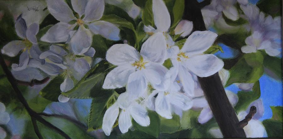 Flowers Painting - Apple Blossoms by Tammy  Taylor