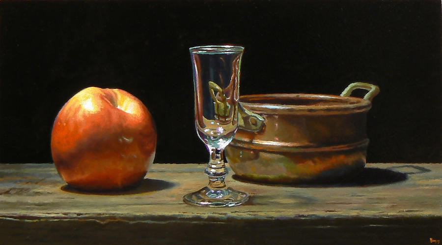 Apple Painting - Apple Glass Copper by Jeffrey Hayes