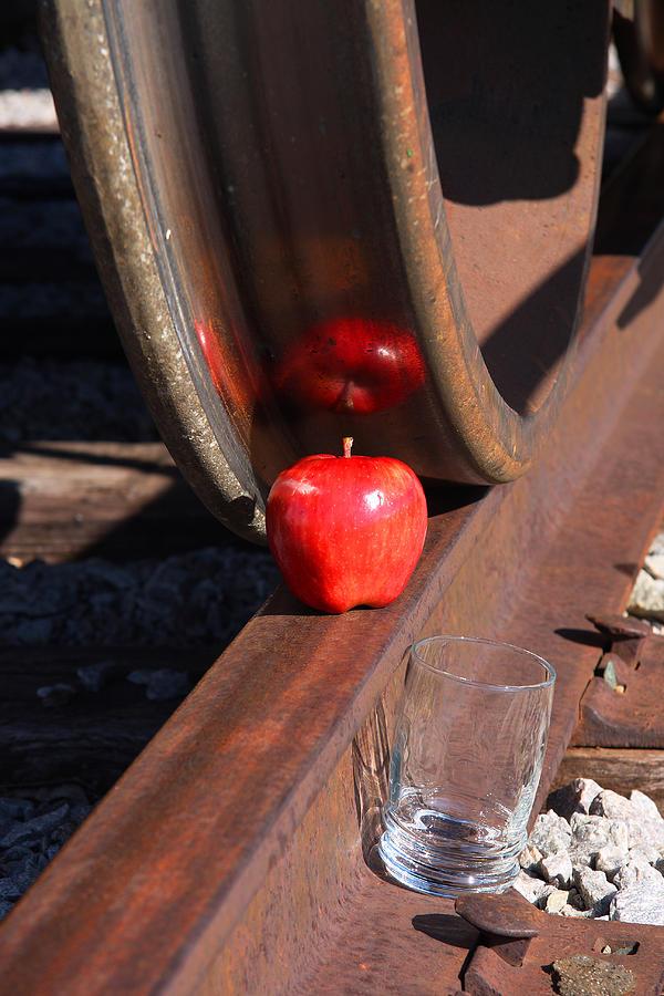 Apple Photograph - Apple Juice Railroad 4 by John Brueske