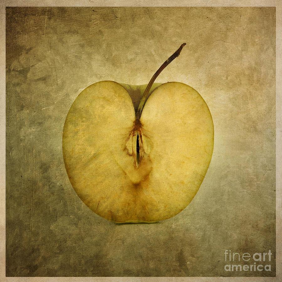 Texture Photograph - Apple Textured by Bernard Jaubert