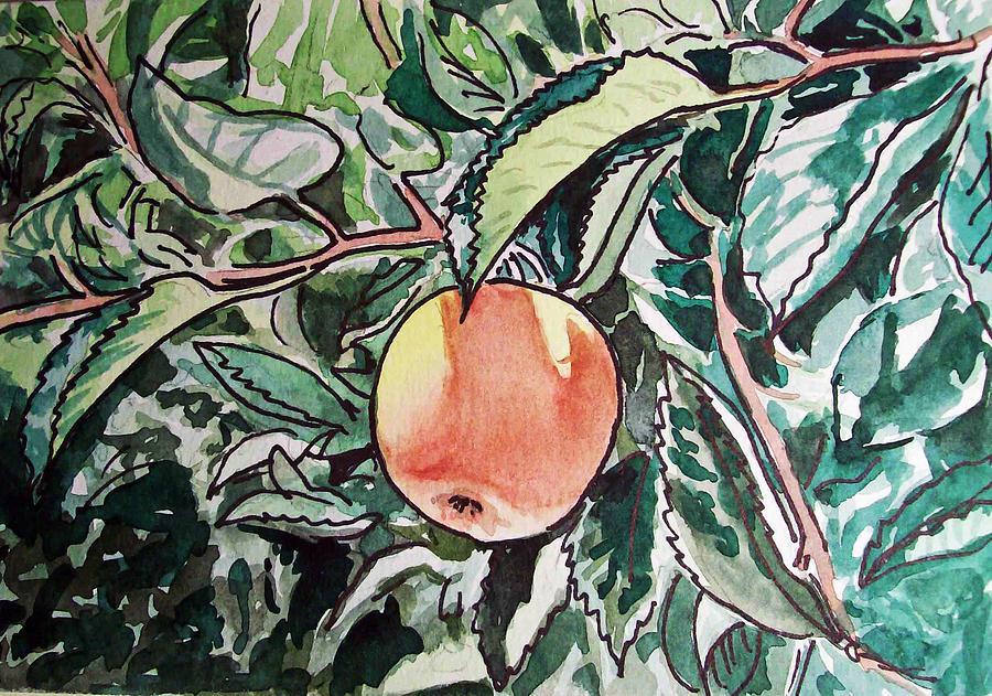 Sketch Painting - Apple Tree Sketchbook Project Down My Street by Irina Sztukowski
