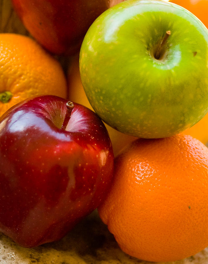Still Life Photograph - Apples And Oranges by Jim  Arnold
