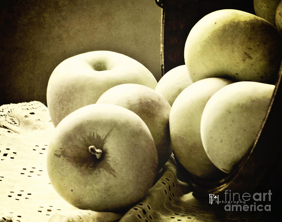 Apples Black and White by Pam  Holdsworth