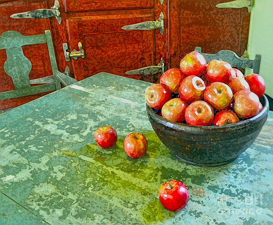 Apples Digital Art - Apples  by Karen Francis