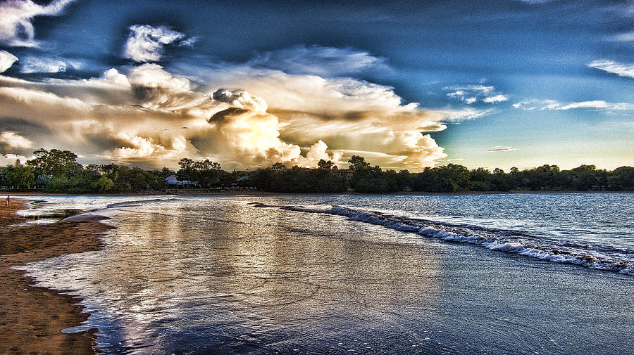 Top-end Photograph - Approaching Storm Clouds by Douglas Barnard