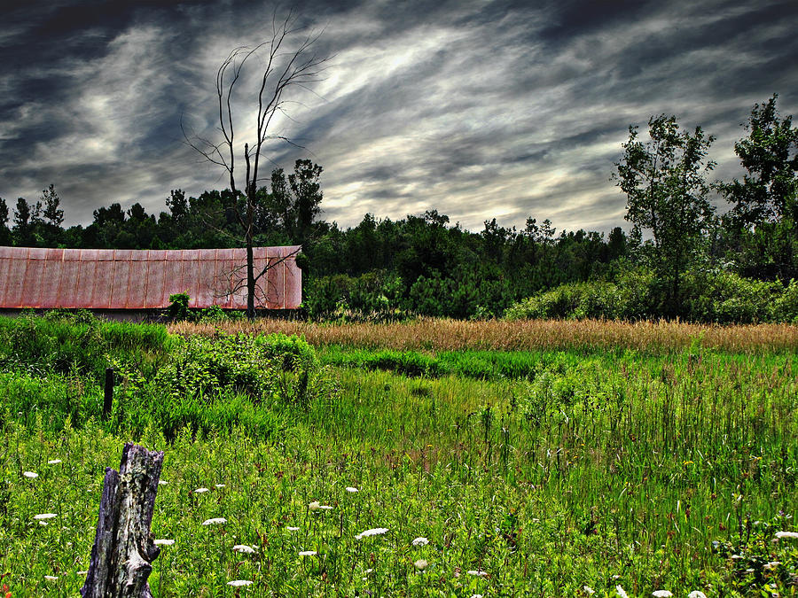 Barn Photograph - Approaching Storm  by Ms Judi
