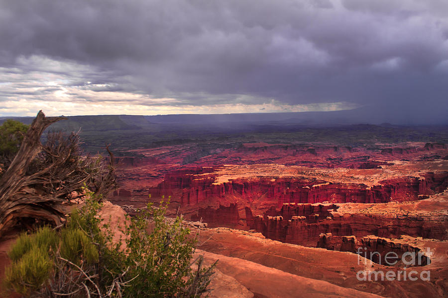 Panoramic Photograph - Approaching Storm  by Robert Bales