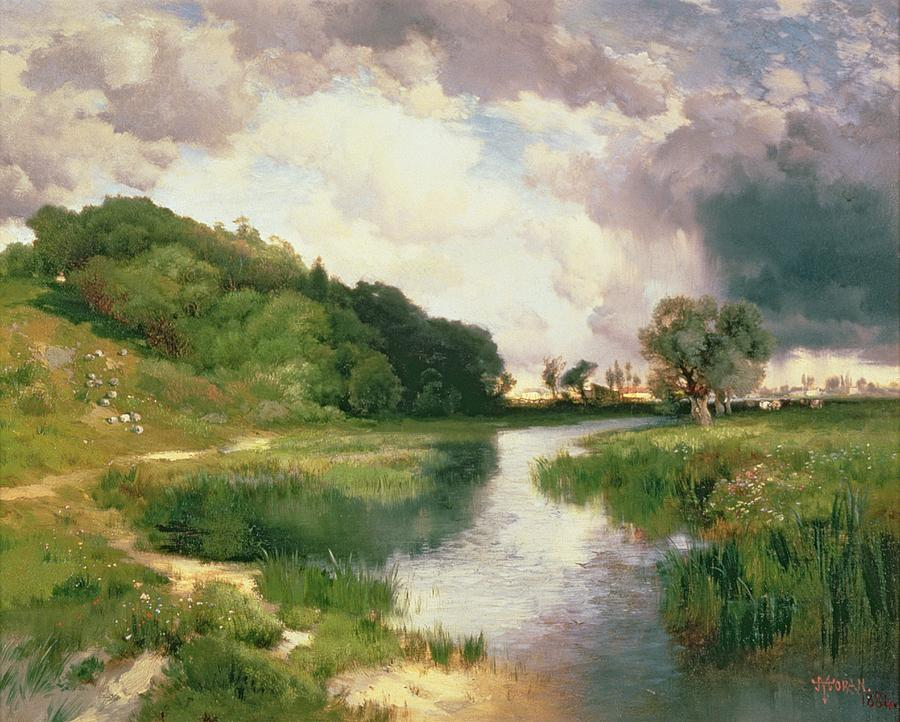 Amagansett Painting - Approaching Storm by Thomas Moran