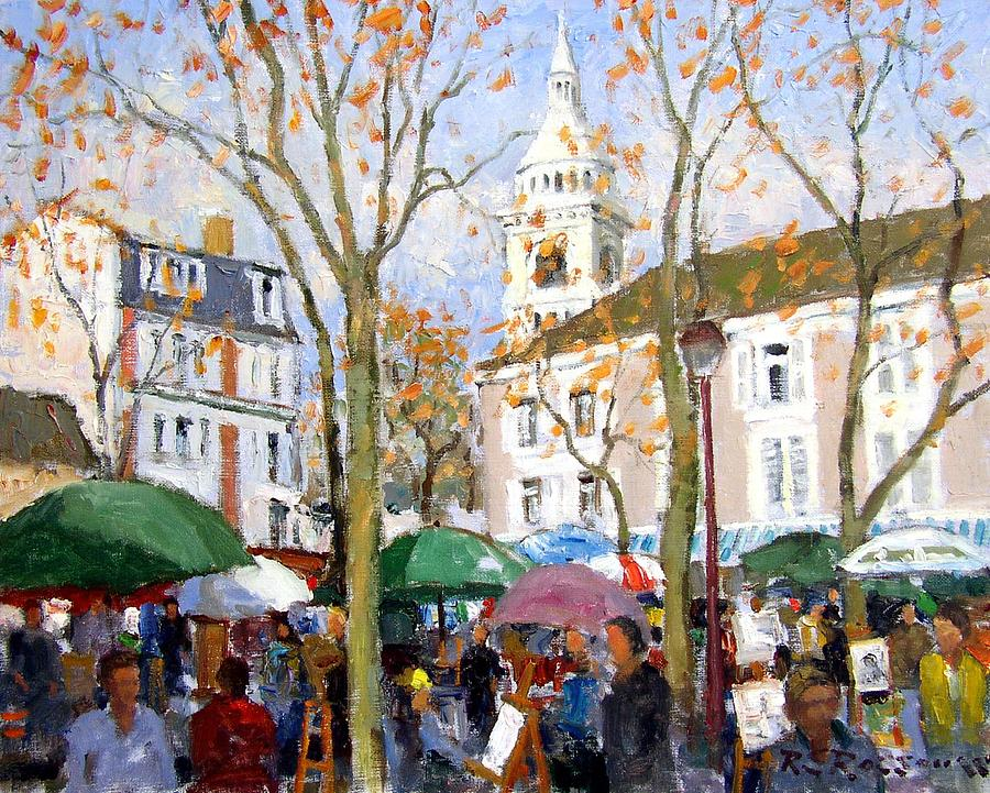 April In Paris Painting By Roelof Rossouw