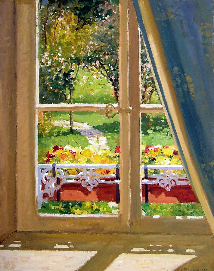 Window Painting - April Morning by Roelof Rossouw