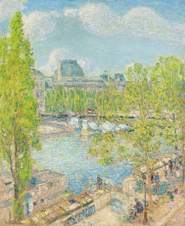 April Painting - April On The Quai Voltaire In Paris by Childe Hassam