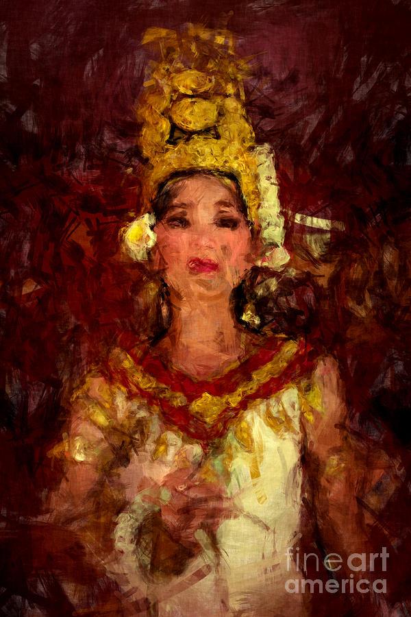 Apsara paintings fine art america apsara painting apsara princess by stefan olivier altavistaventures Images