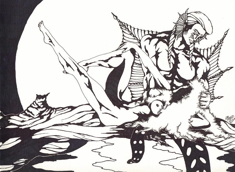 Fantasy Drawing - Aqua by Audrey Snead
