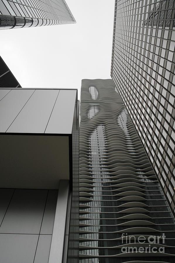 Chicago Illinois Photograph - Aqua In The Neighborhood by David Bearden