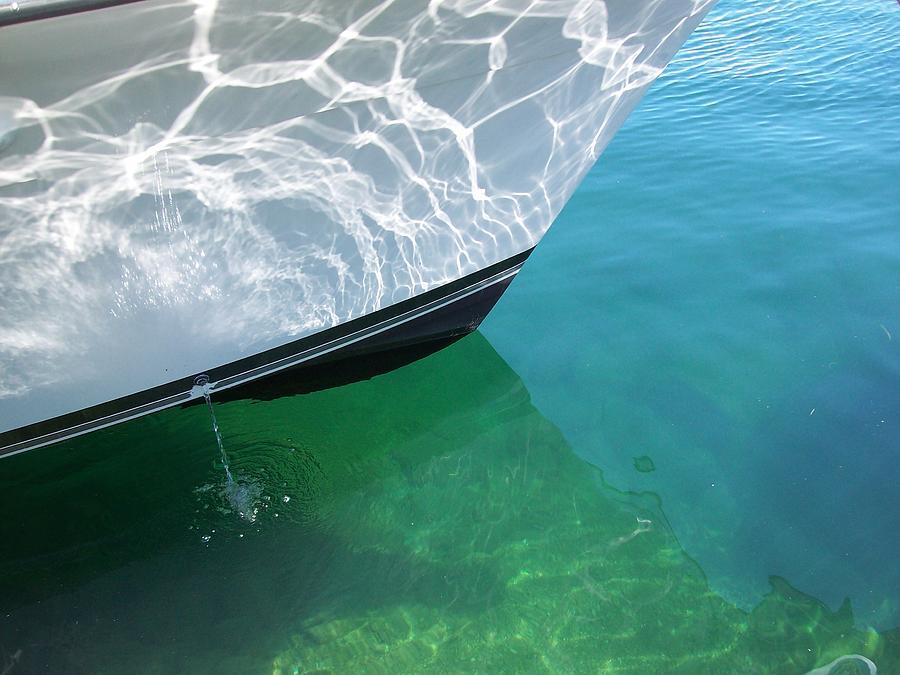 Reflections Photograph - Aqua Reflection by Patricia Drohan