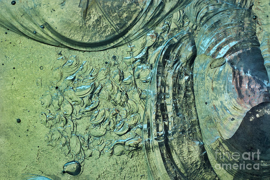 Stained Photograph - Aqua Stained Glass by Susan Isakson