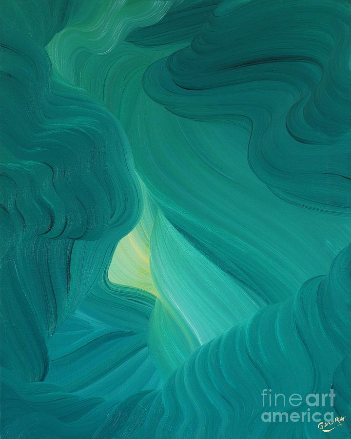 Aquamarine Vista Painting