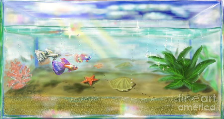 Fish Digital Art - Aquarium by MURUMURU By FP