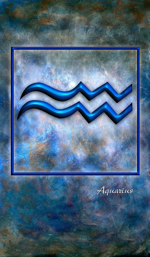 Framed Pyrography - Aquarius  by Mauro Celotti