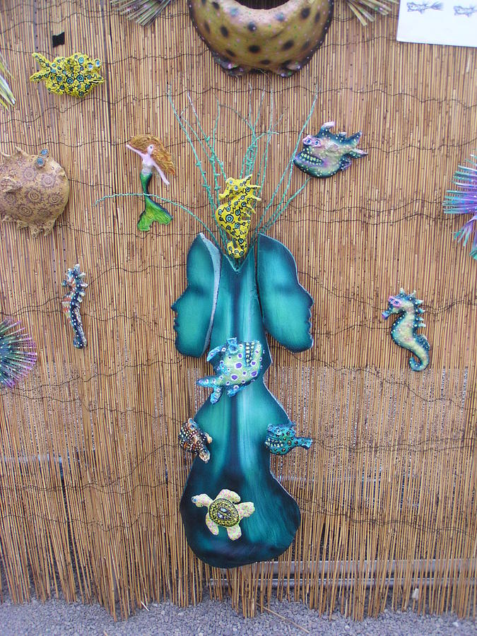 Palm Frond Mixed Media - Aquascape by Dan Townsend