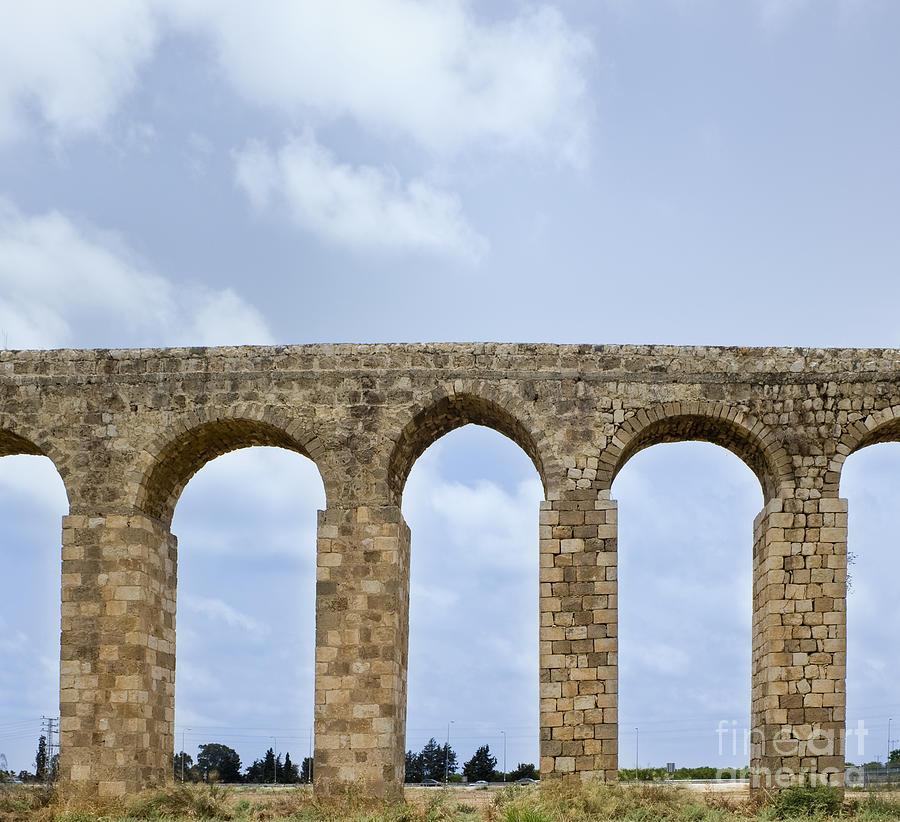 Acre Photograph - Aqueduct Of Acre by Noam Armonn