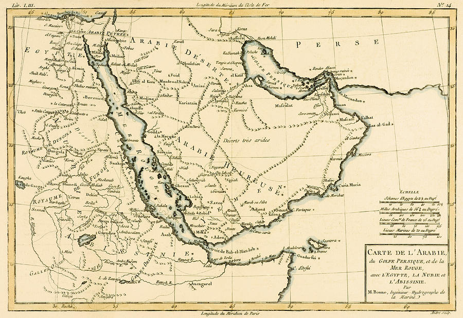 Maps Drawing - Arabia by Guillaume Raynal