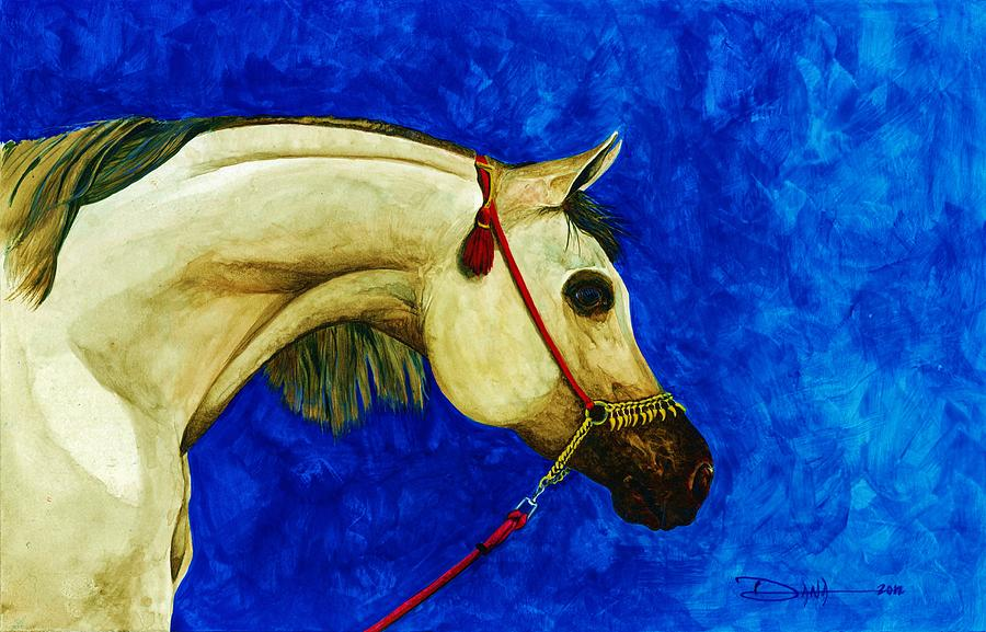 Horse Painting - Arabian Beauty by Dana Newman