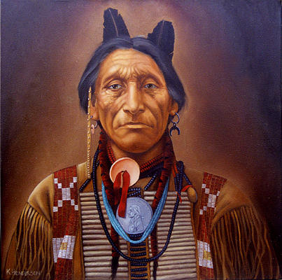 American Indian Painting - Arapaho By K Henderson by K Henderson