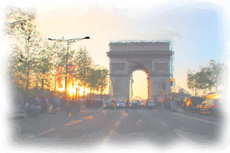 Paris Digital Art - Arc De Triomphe I by Thomas Frias