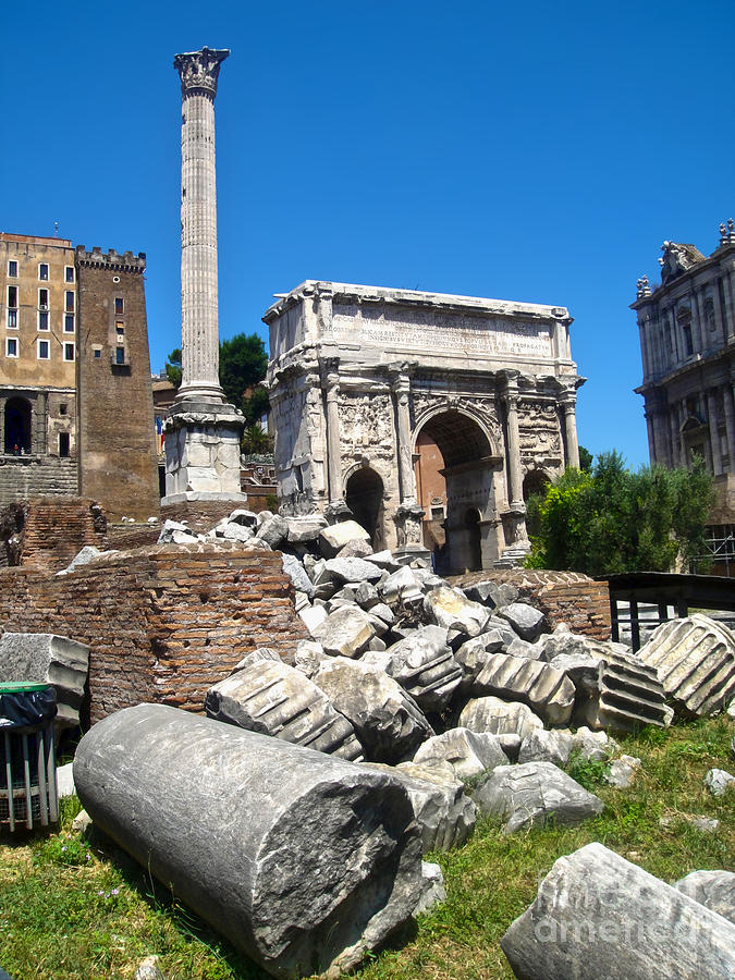 Roman Ruins Photograph - Arch Of Septimius Severus by Gregory Dyer