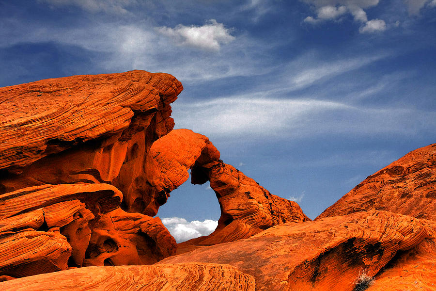 Nevada Photograph - Arch Rock - Amazing Show Of Nature by Christine Till