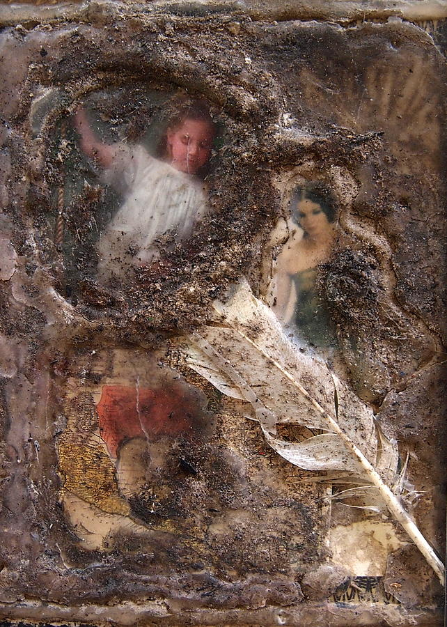Collage Mixed Media - Archaelogical  by Tammy Cantrell