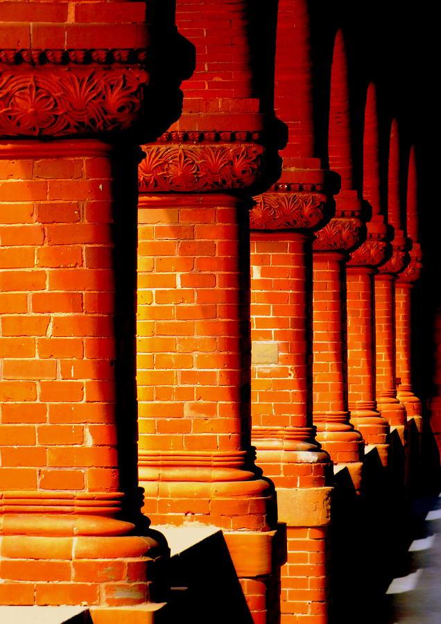 Architecture Photograph - Archaic Columns by Karen Wiles