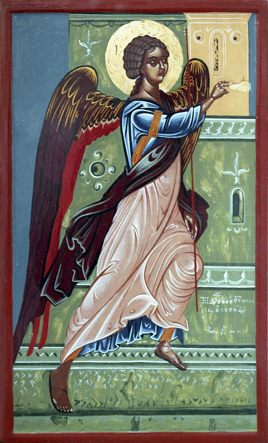Orthodox Painting - Archangel Gabriel by Anton Dimitrov