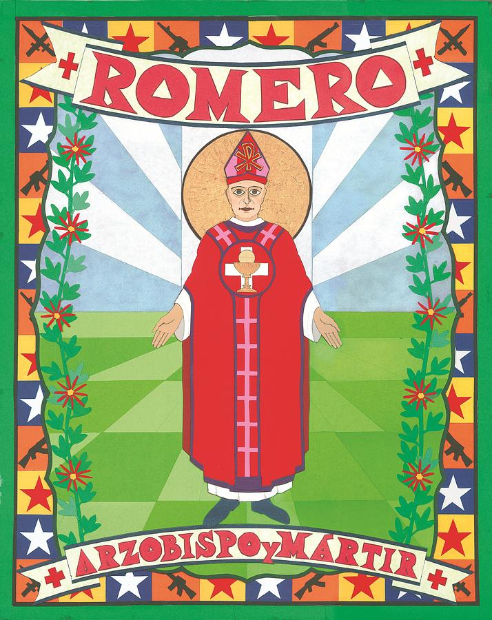 Romero Painting - Archbishop Romero Icon by David Raber